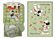Disney Mickey Chef de Cuisine Kitchen Towel Set [4-Piece Set]
