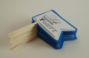 All About Details Blue Marine 40th Birthday Quotes Cupcake Toppers, Set of 12