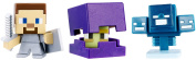 Minecraft Mini Figure (3 Pack) - Shulker, Steve with Shield, Skullfire Wither
