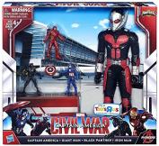 Captain America Civil War Miniverse Captain America, Giant Man, Black Panther & Iron Man Exclusive Action Figure 4-Pack