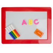 Drawing And Magnetic Letters Learning Board - Early Educational Kid's Toy - Erasable Colourful Writing Markers - For Home And Preschool - Assorted Colours