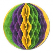 Gold, Green, Purple Crepe Tissue Ball 30cm 1Ct