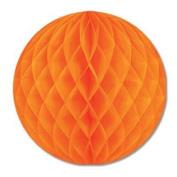 Orange Crepe Tissue Ball 30cm 1Ct