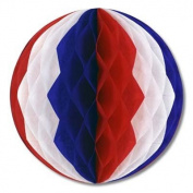 Red/ White/ Blue Crepe Tissue Ball 36cm 1Ct
