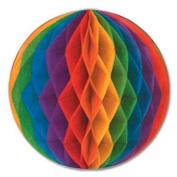 Tissue Ball 36cm Rainbow 1Ct