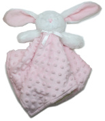 Blankets and Beyond Pink & White Bunny Baby Security Blanket Plush