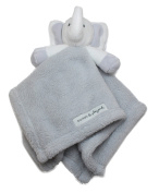 Blankets and Beyond Grey Elephant Baby Security Blanket Plush