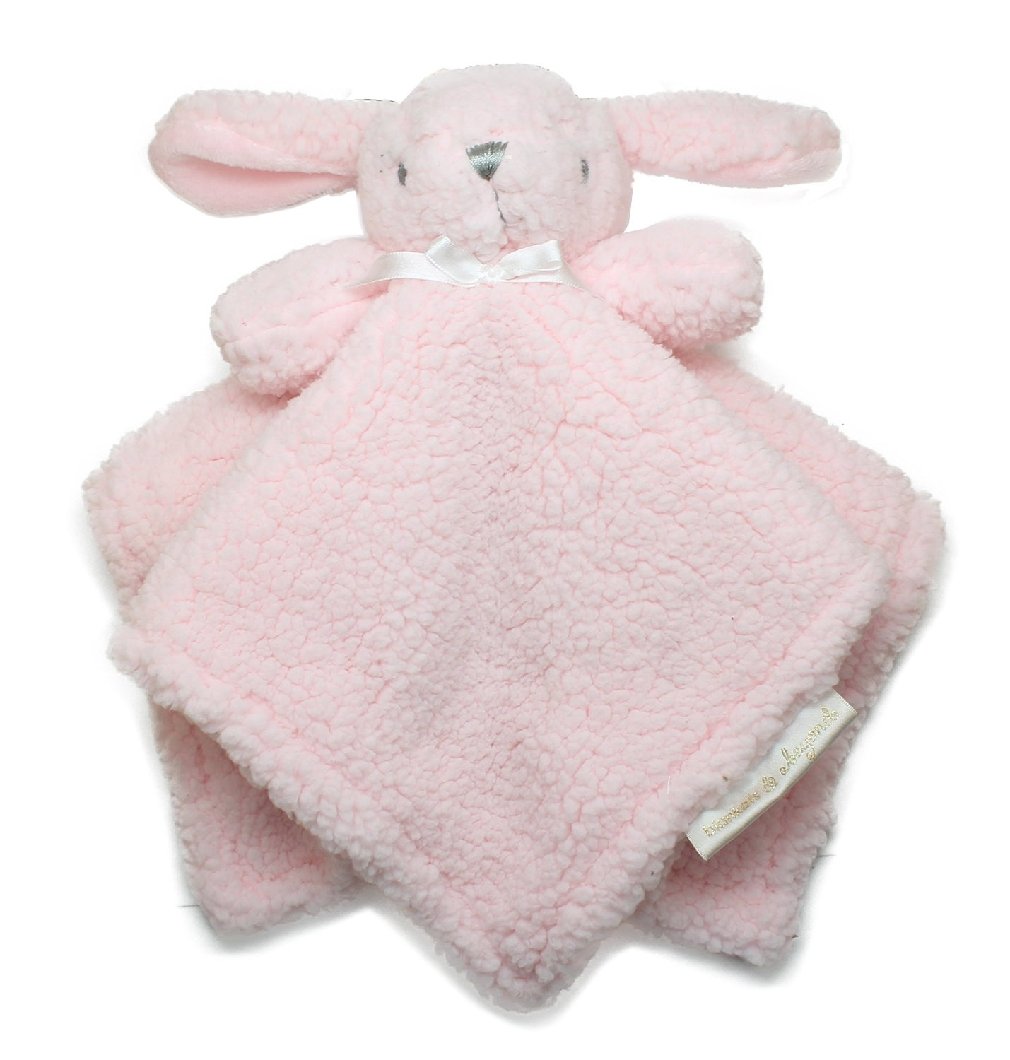 e843543318 Blankets and Beyond Pink Bunny Baby Security Blanket Plush by ...