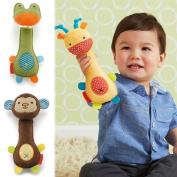 CHIC Animal Handbells Musical Developmental Toy Bells Kids Baby Soft Toys Rattle : Green