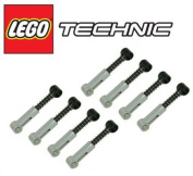 LEGO 8 pcs LOT of TECHNIC LIGHT grey SHOCK ABSORBERS Part Piece Spring Suspension Car Truck Chassis