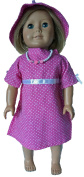 Darling Dots Doll Dress And Hat Fits 46cm Dolls Like American Girl, Our Generation, Journey Girls, My Life Dolls