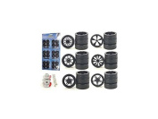 Diecast 2004B Custom Wheels for 1-18 Scale Cars & Trucks 24 Piece Wheels & Tyres Set