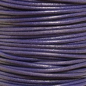 "#11 Violet Round Leather Cord 0.5mm (1/64"") x 10 m"