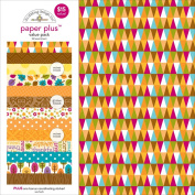 Doodlebug 5179 Paper Plus Value Supplies (12 Pack), 30cm x 30cm , Fall, Multicolor