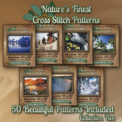 Nature's Finest Cross Stitch Patterns - Collection Five - 50 Beautiful Landscape / Scenery Cross Stitch Designs on CD