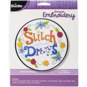 Bucilla Stamped Embroidery Stitch Your Dreams Kit, 46240 20cm