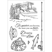 Stampers Anonymous Inky Antics Clear Stamp Set, 15cm by 10cm , Fishing Favourites