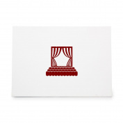 Theatre Seats Play Performance Opera Style 4572, Rubber Stamp Shape great for Scrapbooking, Crafts, Card Making, Ink Stamping Crafts