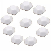 CSKB WHITE 10 PCS 40mm Turtle Shell-shaped Ceramic Door Knob Pure Colour Handle Pull For Cupboard/Cabinet/Wardrobe/Drawer/Bathroom 8 Colours Available