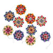 Silk Paper Flower Garland Decoration 'Flower Fete Garland'