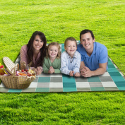 QILOVE Waterproof Flannel Outdoor Picnic Blanket Mat With Carrying Strap