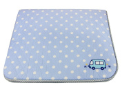 Supreme Breathability and Comfort Quilted and Skidproof Baby Mattress 70cm X 120cm , Blue