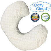 Nursing Pillow, Made With Washable, Eco-Friendly Memory Foam and Hypoallergenic Bamboo Cover, Perfect Support for You and Your Baby While Breastfeeding