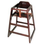 High Chair CHH-103 Mahogany Wood Knocked-Down Winco, Set of 3