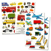 Cars and Trucks Stickers Party Supplies Pack Toddler -- Over 230 Stickers