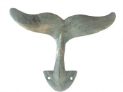 Antique Bronze Cast Iron Decorative Whale Hook 13cm - Decorative Wall Hook - Cast
