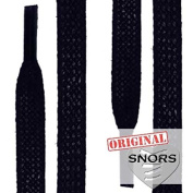 SNORS - Shoelaces - WAXED FLAT LACES, ca. 5mm, DARK BLUE, flat