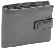 New Mens RFID BLOCKING Premium Quality Genuine Leather Bifold Wallet Zip Coin Pocket