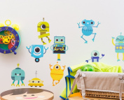 MINI-ROBOTS for wall stickers wall stickers Room Decoration-Decoramo