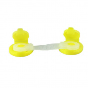 AsentechUK® 10Pcs Door Drawer Fridge Cupboard Cabinet Lock Latch Baby Safety Lock(Yellow)