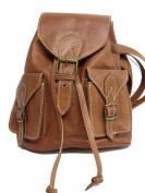 yojan piel Women's Backpack Brown MARRON CLARO