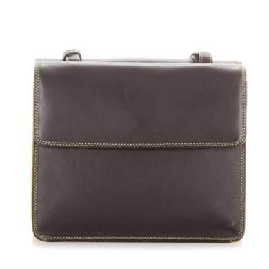 Mywalit Leather Twin Flap Cross Body Handbag Olso Collection 1920