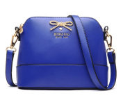 TianHengYi Cute Golden Bow Mini Faux Leather Satchel Purse Small Shell Cross Body Shoulder Bag for Girls
