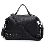 fanhappygo Fashion lady leather Rivet handbags Leisure shoulder bag Totes