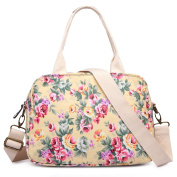Miss LuLu Beautiful Flower Print Tote Oilcloth Large Shoulder Messenger Bags Ladies Fashion Tote Handbags