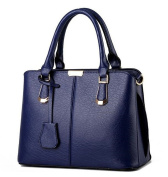 TianHengYi Womens Candy Colours Faux Leather Top-handle Handbag Shoulder Bag with Removable Long Strap