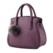 Women Heart-Shaped with Hairball Decorated Pu Leather Tote Crossbody Bags