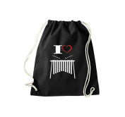 T-Shirt Stown Gym Bag Music I Love Xylophone