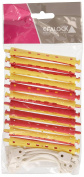 Efalock Kaltwell Curler Two Tone Yellow/Red Long 9 mm, Pack of 12 Rolls)