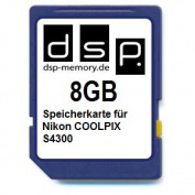DSP Memory Z 4051557403048 8 GB microSD Memory Card for Nikon Coolpix S4300