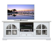 White Tv cabinet with glass door Diamond