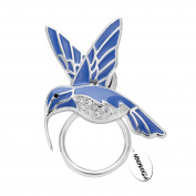 NOUMANDA Nature Jewellery Enamel Hummingbird Magnetic Eyeglass Holder Emerald Bird Magnetic Brooch