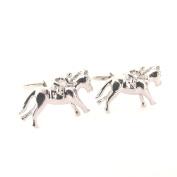 Silver Jockey Cufflinks by Van Buck