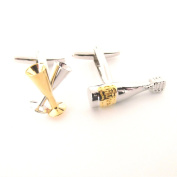 Champagne and Flutes Cufflinks by Van Buck