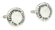 13th Wedding Anniversary Hammered Cuff-links Perfect for your Husband, 13th Anniversary Gift Idea & Keepsake