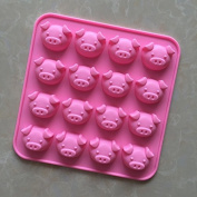YL 16 Cavities Pig G136 Silicone Cake Baking Mould Cake Pan Muffin Cups Handmade Soap Moulds Biscuit Chocolate Ice Cube Tray DIY
